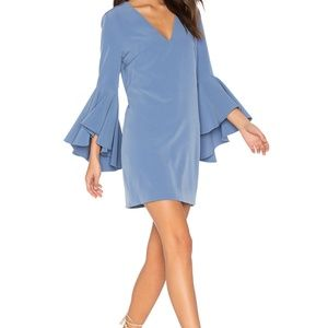 Milly Bell Sleeve Nicole Dress in Steel Blue